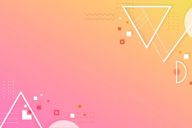 Spazio creativo di design geometrico