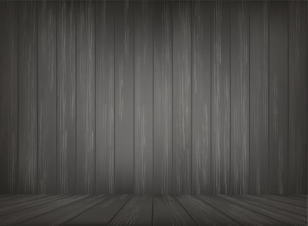Spazio della stanza in legno per lo sfondo
