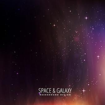 Spazio e stelle universo sfondo