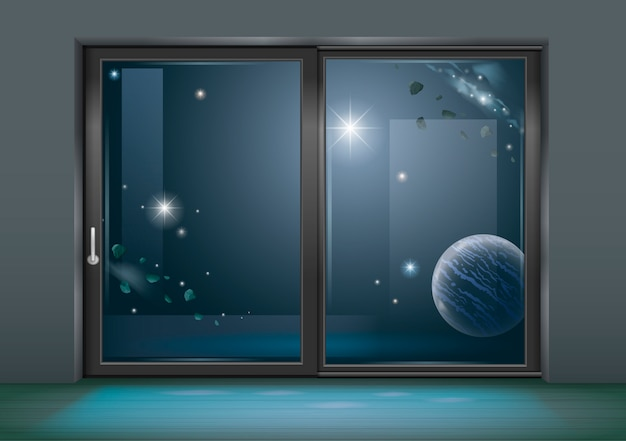 Spazio finestra scorrevole dell'hotel