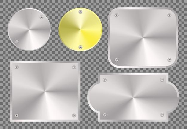 Spazio in bianco di concetto del metallo, cromo d'acciaio di struttura di pendenza di effetto metallico di concetto dell'illustrazione moderno