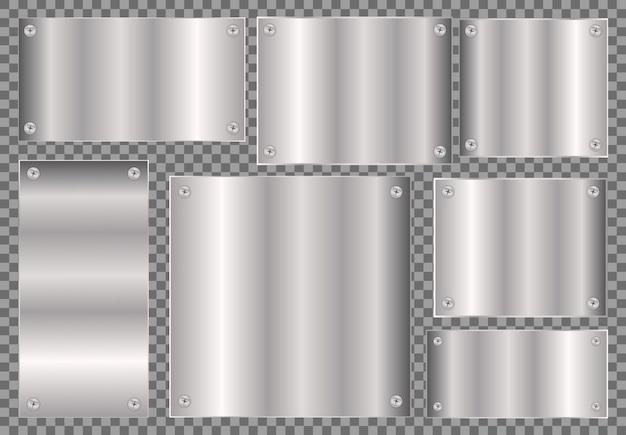 Spazio in bianco di concetto del metallo, cromo moderno moderno, modello tranparant di struttura di pendenza di effetto metallico di concetto dell'illustrazione