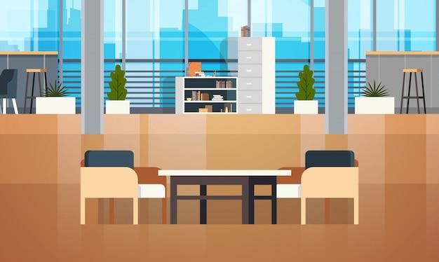 Spazio vuoto del posto di lavoro di coworking space interior modern coworking office