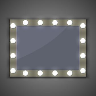 Specchio per il trucco con lampadina