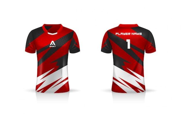 Specifica modello da calcio, modello esport gaming t shirt jersey. uniforme.
