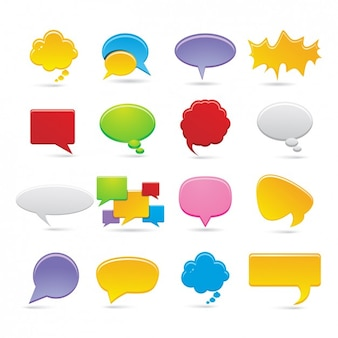 Speech bubbles collection icona