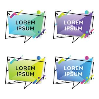 Speech bubles geometric colorful set