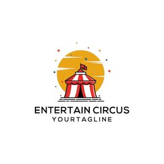 Spettacolo del festival di carnevale della tenda da circo