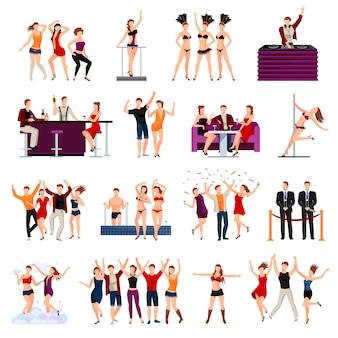 Spettacolo di strip di ragazze sexy di night club di ballo