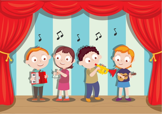 Spettacolo musicale eseguito da giovani studenti