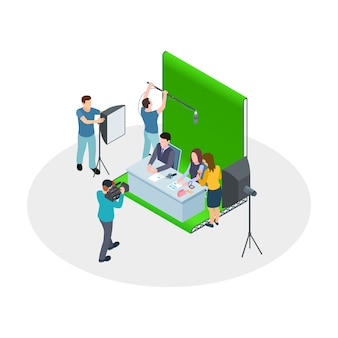 Spettacolo televisivo di riprese isometriche