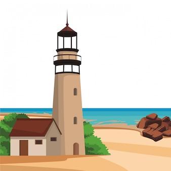 Spiaggia e paesaggi dell'isola