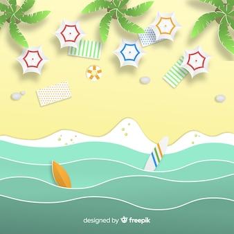 Spiaggia in stile cartaceo
