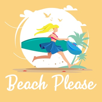 Spiaggia si prega di carta