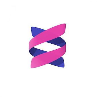 Spirale astratta o dna elica logotipo vettoriale