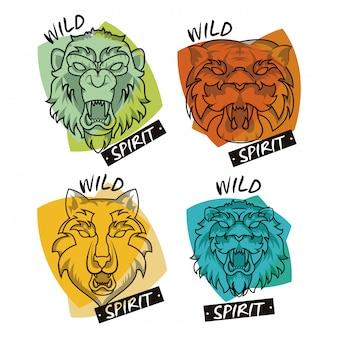 Spirito degli animali selvatici creativo