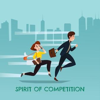 Spirito di illustrazione della concorrenza