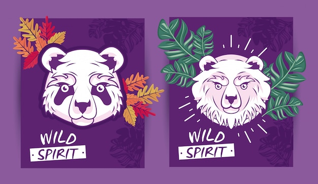 Spirito di orsi selvaggi creativo