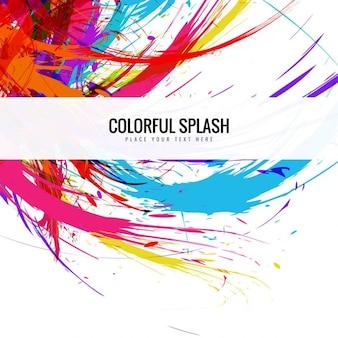 Splash sfondo colorato