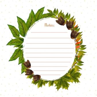 Splendida cornice con foglie d'autunno