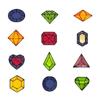 Splendidi diamanti incastonati. per le ragazze gioielli forma romboidale.