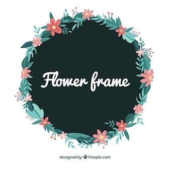 Splendido design del telaio floreale