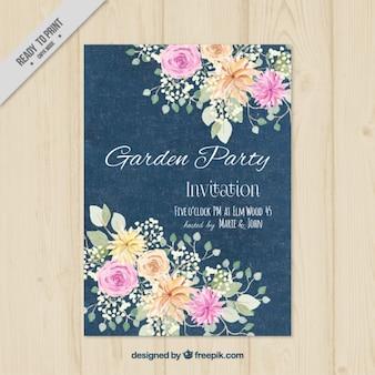 Splendido giardino invito a una festa