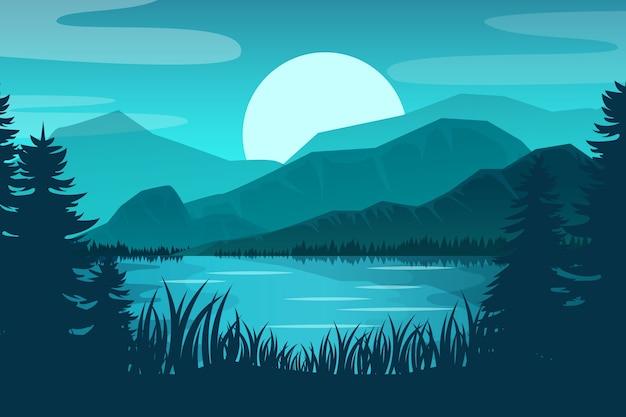 Splendido paesaggio primaverile sfumato