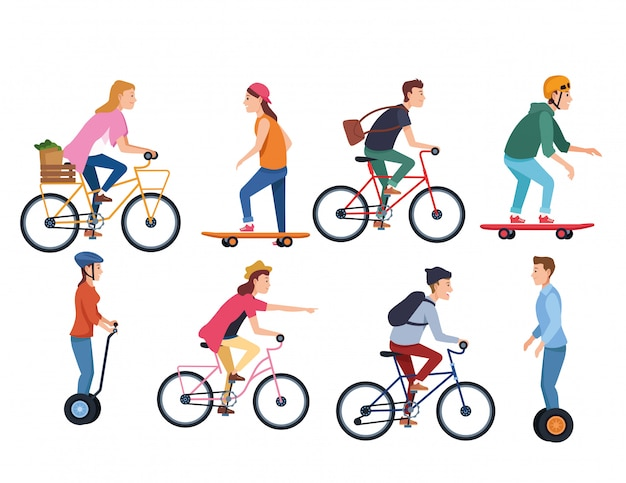 Sport attività sportiva all'aperto dei cartoni animati
