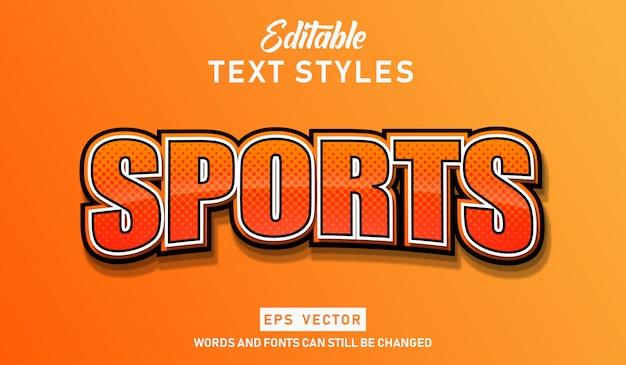 Sport con effetti di testo modificabili