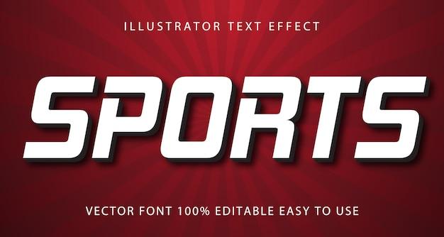 Sport effetto testo modificabile