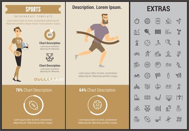 Sport infografica modello, elementi e icone
