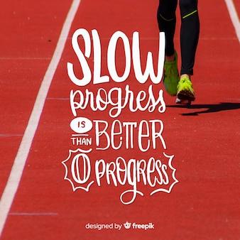 Sport lettering sfondo con foto