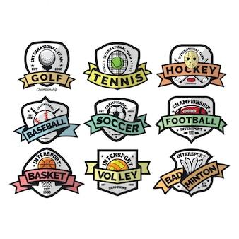 Sport logo internazionale vettoriale