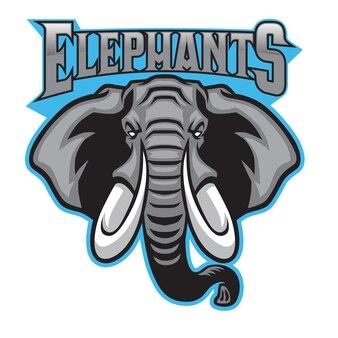 Sport mascotte testa di elefante