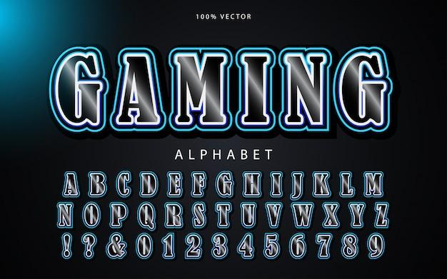 Sport moderno blu e design alfabeto giocatore