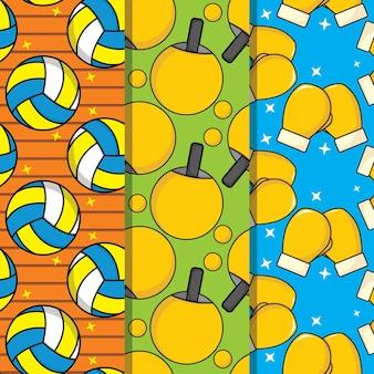 Sport seamless pattern