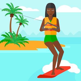 Sportiva di wakeboard professionale