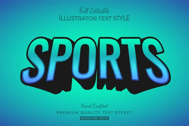 Sports text style effect premium
