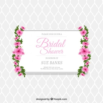 Sposa doccia invito floreale