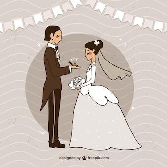 Sposa e sposo sposarsi