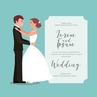 Sposi la loro prima partecipazione di nozze