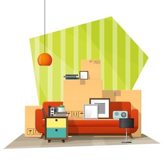 Spostando lo sfondo del concetto di casa