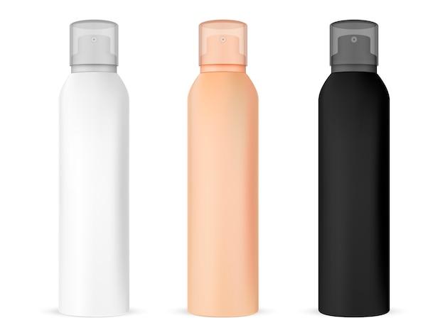 Spray mockup bottle. contenitore per bevande rinfrescanti in alluminio