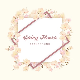 Spring flower invitation background per celebration