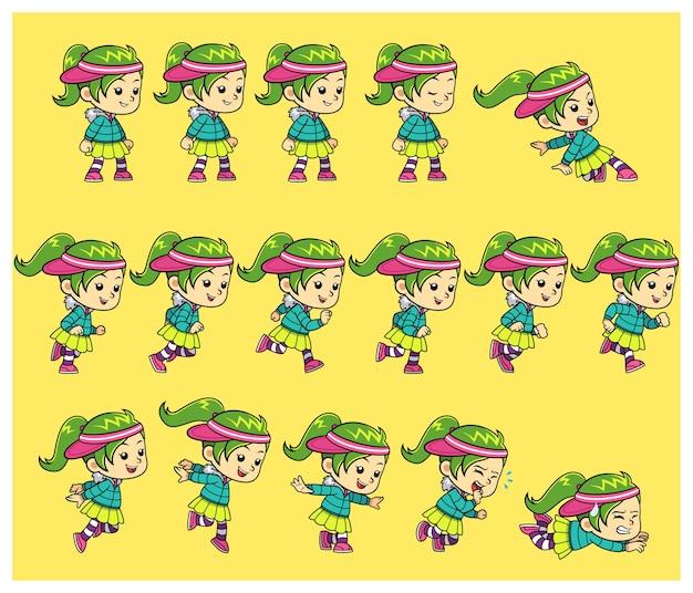 Sprite del gioco di dance girl