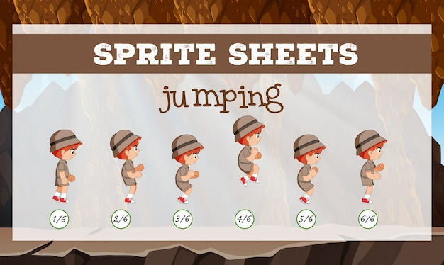 Sprite sheet jumping character
