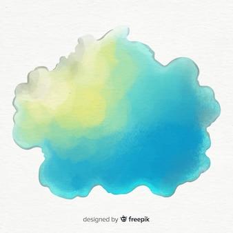 Spruzzata acquerello colorato
