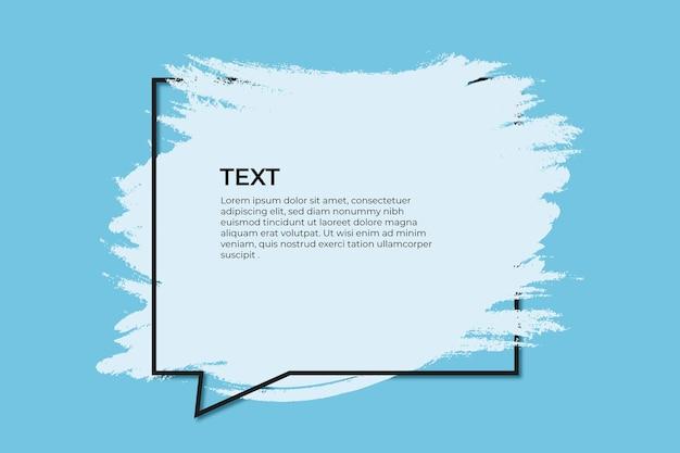 Spruzzata blu con citazione