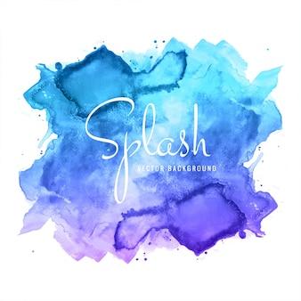 Spruzzata dell'acquerello blu disegnato a mano astratto